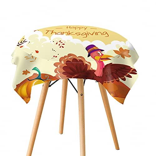 Mantel De Navidad De Acción De Gracias, Mantel De Estilo Europeo con Patrón De Personalidad Simple, Mantel De Calabaza Y Pavo, Rectángulo Redondo
