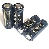 Pilas Recargables Batería De Litio 26650 Batería Recargable 3.7V 8800 Mah Linterna Linterna 3.7V 4Pcs