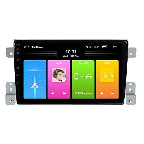 Kilcvt 9 in Car GPS Reproductor Multimedia Android 10 Unidad Principal Radio Audio, para Suzuki Grand Vitara 2005-2015 Soporte Control del Volante/Llamadas Manos Libres Bluetooth,WiFi: 2 32g