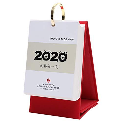 Calendario De Sobremesa/Calendario de Pared Calendario 2020 del Escritorio del Calendario Creativo Simple Trabajo de Notas de Negocios Cara del Estilo Chino de Rasgado Manual Individual Calendario di