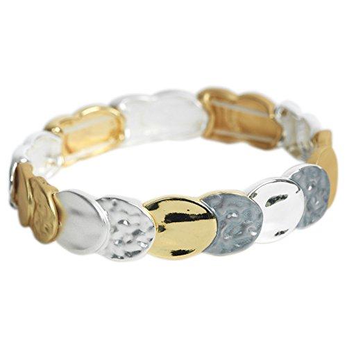 THE MOSHI-Armband - Alexandra - mit verschiedenfarbigen Metallplättchen