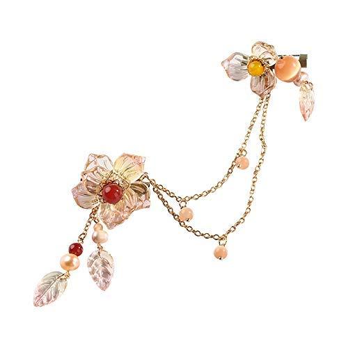 YUXIwang Broche de Broche de la Perla de Agua Dulce, Femenino pétalos de Cristal Grande del Aire Su Cardigan Pin Retro