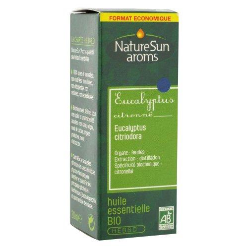 Naturesun aroms - Huile essentielle eucalyptus citronné bio - 30 ml huile essentielle - Contre les d