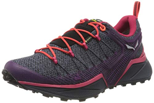 Salewa Damen WS Dropline Gore-TEX Traillaufschuhe, Ombre Blue/Virtual Pink, 40.5 EU