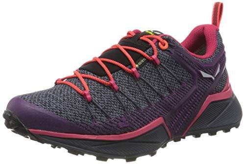 Salewa WS Dropline Gore-TEX, Zapatillas para carrera de senderos Mujer, Azul (Ombre Blue/Virtual Pink), 40 EU