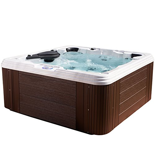Essential Hot Tubs 60-Jet Omni Hot Tub, Seats 6-7, Espresso