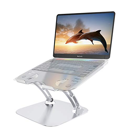 Adjustable Laptop Stand, AceScreen Ergonomic Portable Computer Stand with Heat-Vent to Elevate Laptop, Laptop Holder Compatible with MacBook Air/Pro, Dell XPS, All Laptops 10-17', Support Up to 44 Lbs