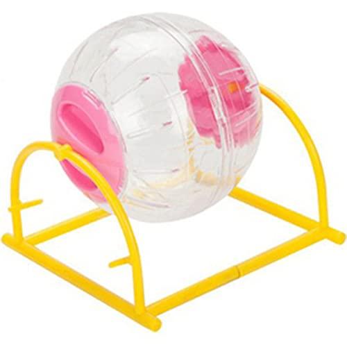HJKND Hámster Transparente Correr Jogging Ball Rack Pet Training Wheel Ejercicio Suministro