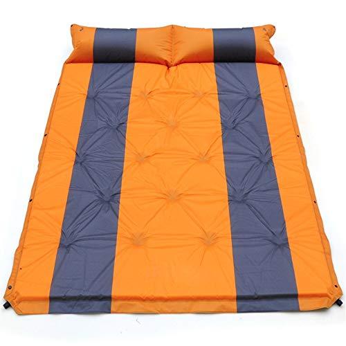 Tapis de tente de camping Nature Hike avec oreiller et sac gonflable Pique-nique en plein air Double matelas de couchage Coussin ultraléger résistant à l'humidité, matelas pneumatique, lit de camping