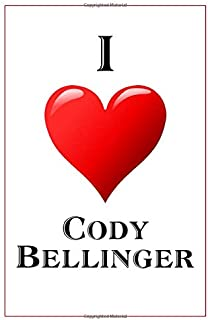 I Love Cody Bellinger: Notebook - 6x9 Lined Journal - 110 Pages - Soft Cover - Great For Birthday Gift (Perfect Personalised Gifts, Athletes)