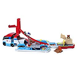 2-IN-1 TRANSFORMING VEHICLE: Transforms from the fan-favourite PAW Patroller team vehicle into an action-packed track set! Kids can open up the Launch'N Haul to discover three rescue missions to complete and an exclusive Robodog 1:55 scale metal die-...