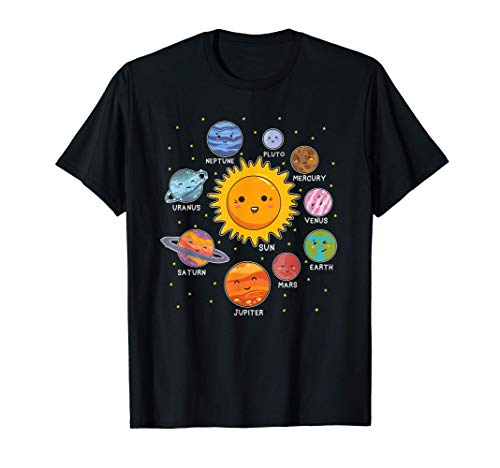 Pianeti del sistema solare per bambini piccoli astronauti Maglietta