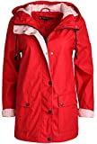 Urban Republic Women's Lightweight Vinyl Hooded Raincoat Jacket, Red, Small'