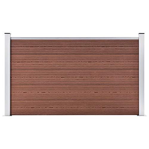 Valla para jardín fabricada en madera, plástico y aluminio