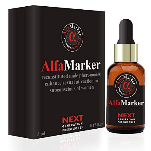 AlfaMarker Pheromones to Attract Women Alfamarker Men`s Pheromone Highly Concentrated Human Pheromone Formula Fragrant Oil Perfume for Men 5 ml (AlfaMarker)