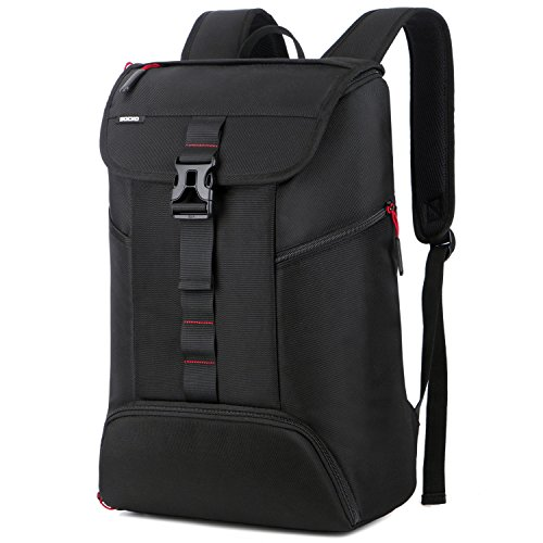 BRINCH Laptop Backpack Business Casual Laptop Bag Anti Theft Travel Computer Rucksack College Gym Bag Water Resistant Outdoor Backpack for Men Women Fits 15-15.6 Inch Laptop, Black