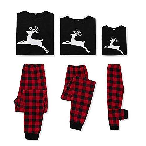 SANMIO Weihnachten Familie Outfit Set Matching Lange Ärmel Bluse + Plaid Lange Hosen...