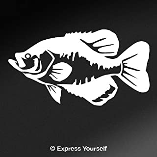 Express Yourself Products Black Crappie (White - Facing as Shown - Small) Decal Sticker - Freshwater Fish Collection