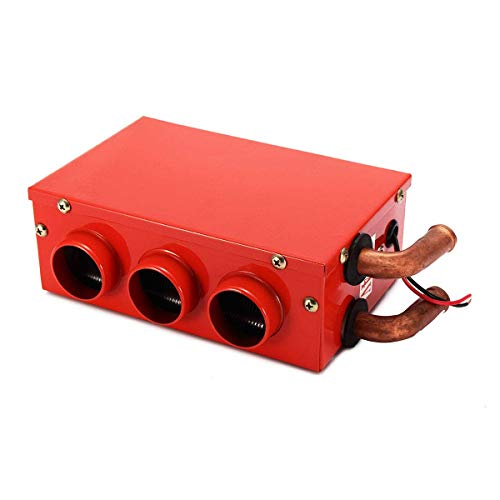 Sunjiaxingzd Descongelador de calentador de coche, 12/24 V, 24 W, universal, portátil, para coche, furgoneta, calefacción, descongelador, descongelador, calentador de coche portátil (color: 12 V)