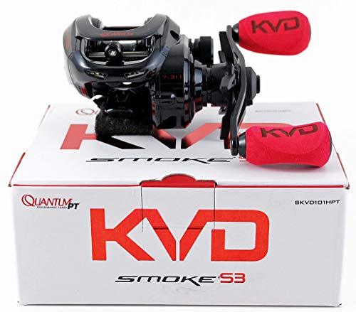 Quantum KVD Smoke S3 SKVD101HPT 7.3:1 Baitcast Reel Left Hand