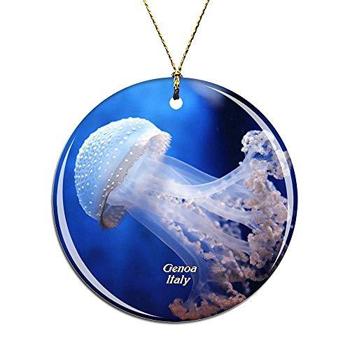 Kysd43Mill Italien Aquarium of Genua Weihnachtsdekoration, Weihnachtsbaum-Dekoration, Hängeornament, Kinder Mädchen