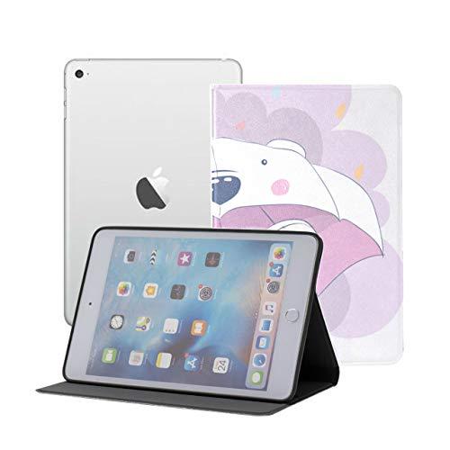 iPad Mini 1/2/3 Case - 360 Degree Rotating Stand Smart Cover Case with Auto Sleep Wake Feature,Cute Elephant Cartoon