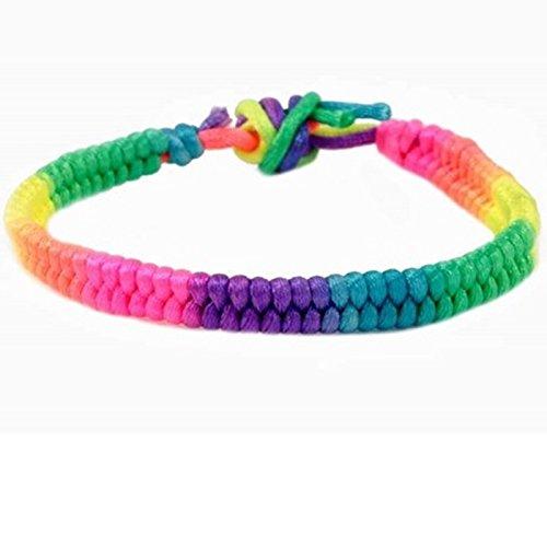 Neon Cord Multi Coloured Friendship Bracelet (Design 1)