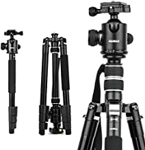 Tripods,DSLR Camera Tripod 65 Inch Portable Lightweight Compact Tripod for Aluminium Monopod 4 Section Professional Tripods with 360 Degree Ball Head Quick Release Plate.