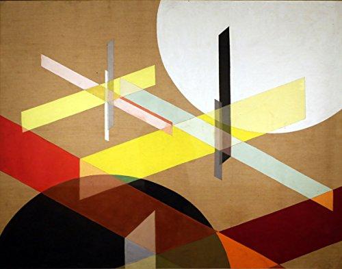 Bauhaus Design geometrisches Design geometrische Wand-Kunst Bauhaus Kunstdruck Bauhaus Drucke Landschaft geometrisches deutsches Design abstrakte Wand-Kunst (20 x 25cm)