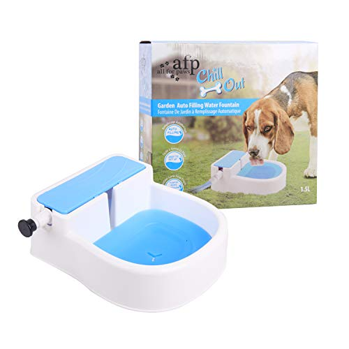 ALL FOR PAWS Dog Garden Fountain Water Feeder Outdoor, Automatic Cat Water Fountain (Auto Fountain)