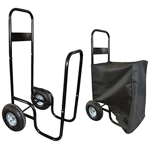 Chariot à bûches avec housse - 150 kg