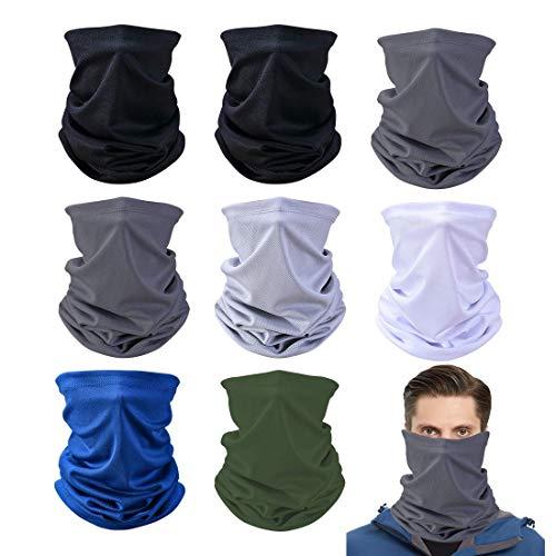 Bluelves Scaldacollo, Bandana, Super Elastico Sciarpa, Tubolare Headwrap Protezione UV per Sport, Yoga, Ciclismo, Snowboard per Uomo e Donna