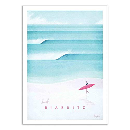 Wall Editions Art-Poster - Surf Biarritz - Henry Rivers