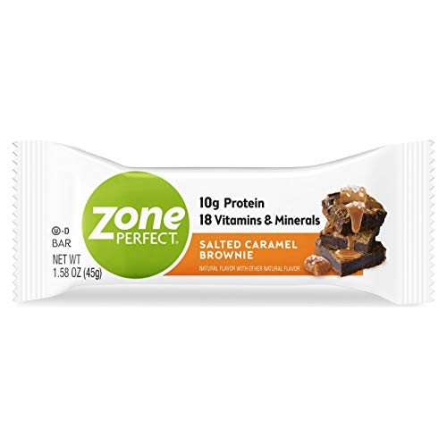 ZonePerfect Protein Bars, Salted Caramel Brownie, 10g of Protein, Nutrition Bars with Vitamins & Minerals, Great Taste Guaranteed, 30 Bars