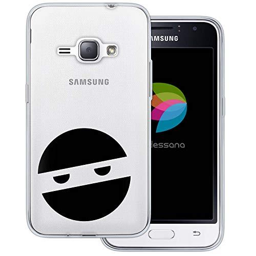 dessana Ninja transparante beschermhoes mobiele telefoon case cover tas voor Samsung Galaxy A J, Samsung Galaxy J1 (2016), Ninja masker