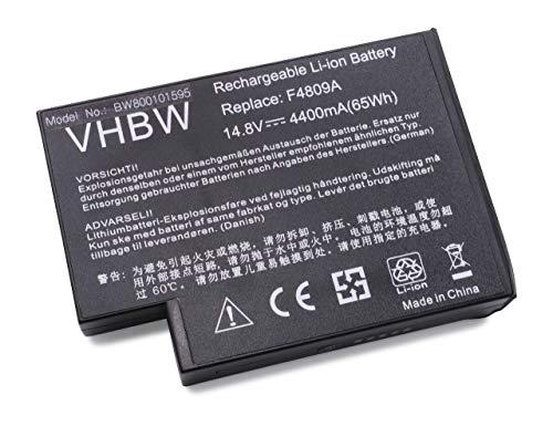 Batería Li-Ion vhbw 4400mAh (14.8V) Negra para Ordenador portátil HP/CompaQ Presario 100CA, 1100, 2100, 2200, 2500 como 319411-001, 361742-001.