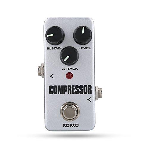 Zetiling Gitarren-Kompressor, tragbares Kompressor-Effekt-Anti-Rutsch-Pedal für E-Gitarren-Zubehör