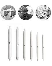 6 Piezas difuminos de papel, Tortillions, Ayuda ideal para dibujar para principiantes, profesionales, artistas