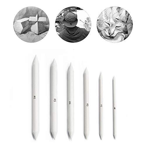 6 Piezas difuminos de papel, Tortillions, Ayuda ideal para dibujar para principiantes,...