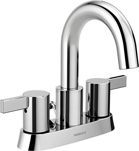 Peerless Precept Centerset Bathroom Faucet Chrome, Bathroom Sink Faucet, Drain Assembly, Chrome P299102LF