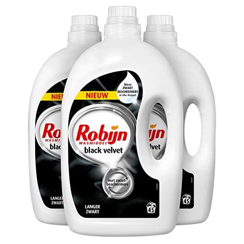 Robijn Black Velvet Vloeibaar Wasmiddel 3 x 45 wasbeurten - 3 x 2,250 L Voordeelverpakking