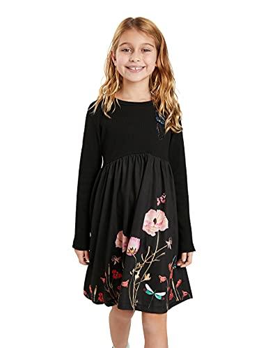 Desigual Girls Vest_Ariadna Casual Dress, Black, 11/12