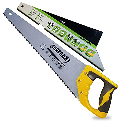 GARYBAX 18 Inches Saw -Perfect Wood Saw -Heavy Duty Tree Saw -Non-Slip Handle Hand Saw for Cutting Wood - Gardening Saws for Woodworking- Professional Pruning Saw- Razor Sharp Blades Saw