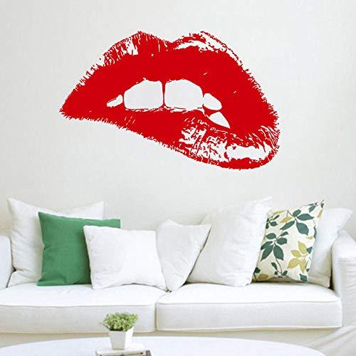 Etiqueta de la pared femenina Hot Lip vinilo etiqueta de la pared artista decoración del hogar salón de belleza decoración de la ventana Mural 42x67 cm