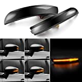 Kamouse Smoked Lens Sequential Amber Led Turn Signal Light Side Marker Lamp Assembly Compatible with Ford 2012-2018 Focus ST、SE、RS Titanium, 2013-2019 Kuga Escape, 2015-2018 C-Max