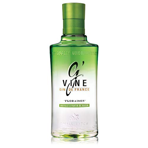 G'Vine Floraison Gin 700 ml mit 10 Botanicals aromatisiert kräftiger Geschmack süß & blumiger Geruch scharfe Wärme Geschmack der Weinblüte