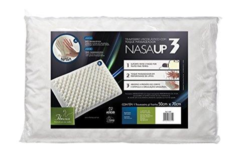 Travesseiro Viscoelástico, Nasa Up 3, 100% Poliéster, 50x70 cm, Fibrasca