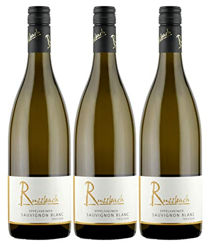 Russbach Eppelsheimer Sauvignon Blanc trocken, Weingut Russbach, Rheinhessen, Jahrgang 2019 (3 x 0,75 l)