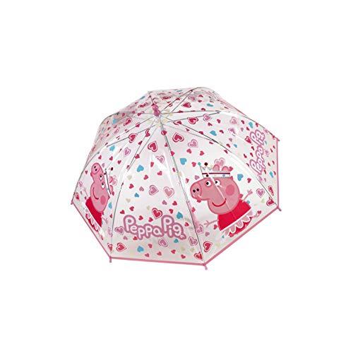 PERS.CARTOON PEPPA PIG Ombrello Transparente (Rosa / Viola) 45cm.