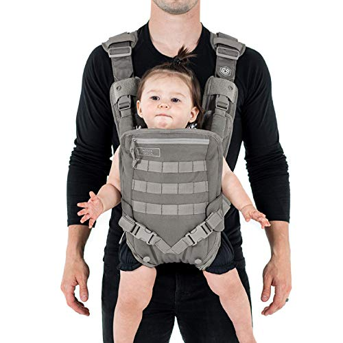 Mission Critical S.01 Action Baby Carrier, Baby Gear for Dads (Gray)